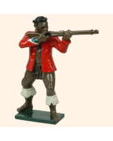 402 2  Toy Soldier Zulu Warrior Wearing army coat firing Kit