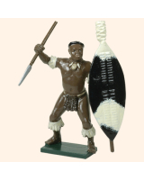 402 5 Toy Soldier Zulu Warrior with spear Kit