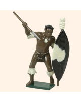 402 7 Toy Soldier Zulu Warrior with spear Kit