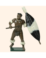 402 8 Toy Soldier Zulu Warrior with knobkerry Kit