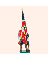 601 02 Toy Soldier Ensign with Kings Colour British Infantry Kit