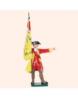 601 03 Toy Soldier Ensign with Regimental Colour British Infantry Kit