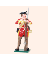 601 08 Toy Soldier Private loading musket British Infantry Kit