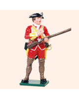 601 09 Toy Soldier Private loading musket British Infantry Kit