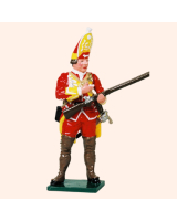604 4 Toy Soldier Grenadier loading musket Grenadier Company Kit