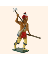 609 5 Toy Soldier Warrior rasing his hand with an axe Allies Kit