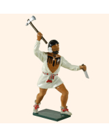 609 6 Toy Soldier Warrior with shirt rasing his hand with an axe British Allies Kit