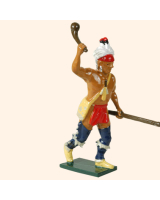 610 4 Toy Soldier Warrior rasing his hand with club French Allies Kit