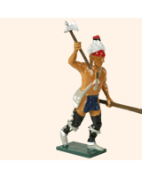 610 5 Toy Soldier Warrior rasing his hand with an axe French Allies Kit