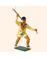 610 6 Toy Soldier Warrior with shirt rasing his hand with an axe French Allies Kit