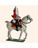 656 2 Toy Soldier Mounted Trooper Scots Grey Kit