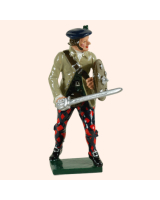 681 3 Toy Soldier Highland Clansman sword down with trousers Kit