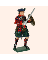 681 4 Toy Soldier Highland Clansman with raised sword feet apart Kit
