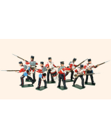 101 Toy Soldiers Set British Infantry Painted