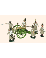 116 Toy Soldiers Set Russian Artillery Painted