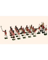 055 Toy Soldiers set British Napoleonic Band 20 figures Painted