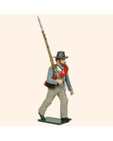 554 Toy Soldier Set Confederate Infantryman Marching Painted