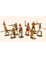 609 Toy Soldiers Set American Woodland Indians Painted