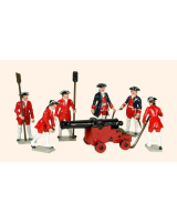617 Toy Soldiers Set French Colonial Artillery Painted