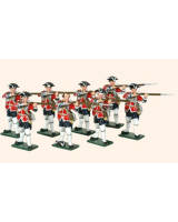 655 Toy Soldiers Set British Infantry Eight Privates Firing Painted