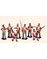 707 Toy Soldiers Set British Line Infantry Painted
