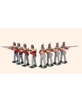 708 Toy Soldiers Set British Line infantry Painted