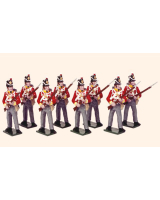 709 Toy Soldiers Set British Line infantry Painted