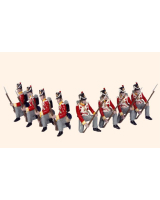 710 Toy Soldiers Set British Line Infantry Painted