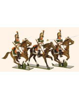 712 Toy Soldiers Set French Line Dragoons Regiment Painted