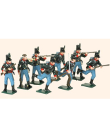 753 Toy Soldiers Set The 60th Rifles 1808-1815 Painted