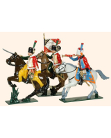 758 Toy Soldiers Set French Chasseurs a Cheval de la Garde Painted