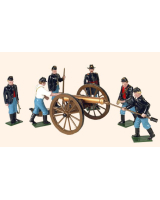 078 Toy Soldiers Set Union Artillery with a 12 Pounder Gun Painted
