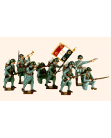 801 Toy Soldiers Set French Infantry Painted