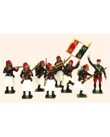 805 Toy Soldiers Set French Zouaves Painted