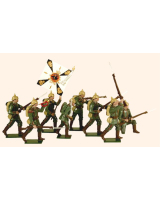 810 Toy Soldiers Set German Infantry 1914 Painted