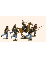 901 Toy Soldiers Set Union Infantry Charging Painted