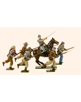 902 Toy Soldiers Set Confederate Infantry Charging Painted