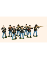 904 Toy Soldiers Set Union Infantry Firing and Loading Painted