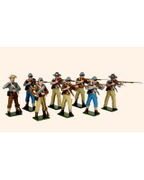 906 Toy Soldiers Set Confederate Infantry Firing and Loading Painted