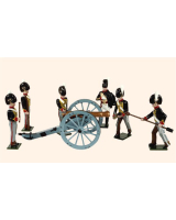 B2A Toy Soldiers Set The Royal Troops of the Artillery Painted