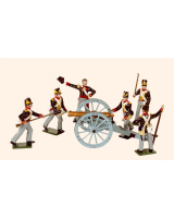 B3A Toy Soldiers Set Royal Artillery 1815 Painted