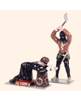 H2 Toy Soldiers Set Lady Jane Grey and the Executioner Painted