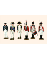 Trad 4 Toy Soldiers Set The Battle of Trafalgar 1805 Painted