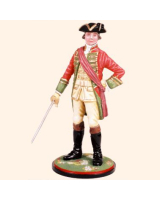 AS90 22 Officer 51st Regiment of Foot 1759 Painted