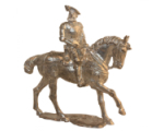 54mm Holger Eriksson - 009 - Gustavus Vasa, mounted, King of Sweden 1523- 1560 Military Miniature - Unpainted