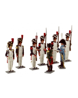 749 Toy Soldiers Set Napoleon presenting The Legion d Honneur to one of his Grenadiers Painted