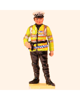 567 Toy Soldier Set Motorcycle Policeman Painted