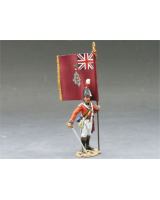 NA126 CG Officer with Regimental Colours King and Country