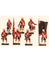1103 Toy Soldiers Set 42nd Highlander Regiment Colour Party Painted