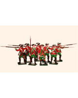600SE6 Toy Soldiers Set  51st Brudenells. Regiment of Foot c.1759 Minden Painted